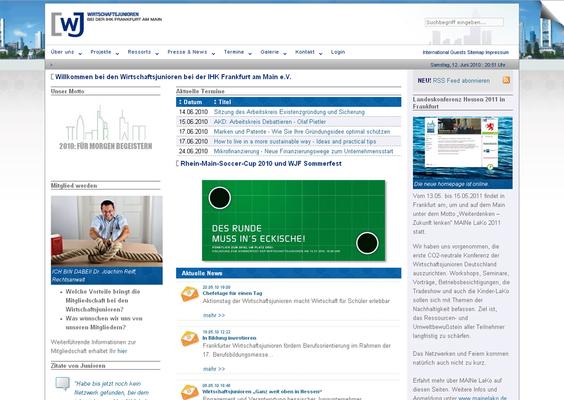 Webseite auf Basis TYPO3 CMS