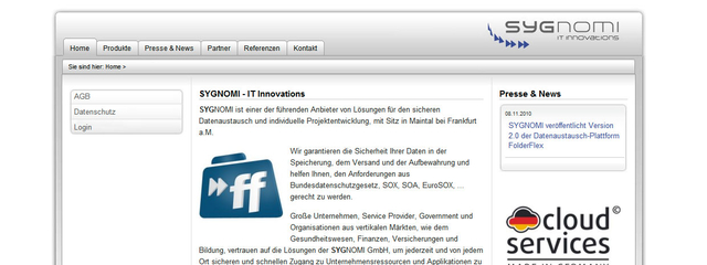 Website auf Basis TYPO3 CMS