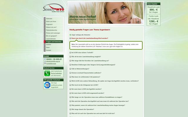 dynamisch aufklappende FAQ's