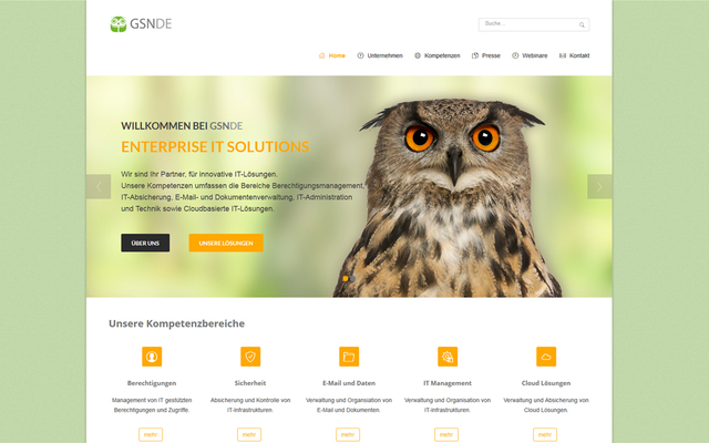 TYPO3 basierte Website